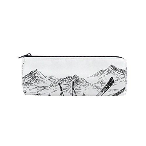 Ski Federmäppchen Stift Tasche Multifunktionale Stationery Tasche Reißverschluss Tasche von bennigiry, Student Reißverschluss Bleistift Inhaber Tasche Geschenk Travel Make-up Tasche