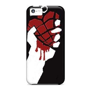 Iphone 5c Dmn8175cRIm Allow Personal Design Lifelike Green Day Skin Shockproof Hard Phone Cover -TimeaJoyce