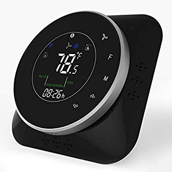 Smart Wifi Thermostats for Home - Programmable Thermostat that Works with Alexa Google Home IFTTT, (2019Update)Remote Control Digital Temperature Controller,24V Wireless Heat Pump Thermostat for House