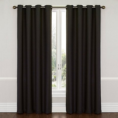 Gorgeous Home (#72) 1 PANEL SOLID BLACK THERMAL FOAM LINED BLACKOUT HEAVY THICK WINDOW TREATMENT CURTAIN DRAPES BRONZE GROMMETS * AVAILABLE IN DIFFERENT SIZES * (84