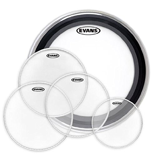 Evans Heads EPP-AMUP-F1 American Drum Head Upgrade Pack, Fusion 1 (10,12,14,14,20) ()