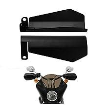 HDBUBALUS Protetor de mão para motocicleta grande com corte de caixão adequado para Harley Touring Street Glide Road King Electra Glide Bagger preto fosco 1 par