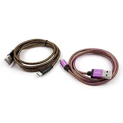 Amazon.com: eDealMax USB Nylon Celular alambre trenzado 2.0 ...