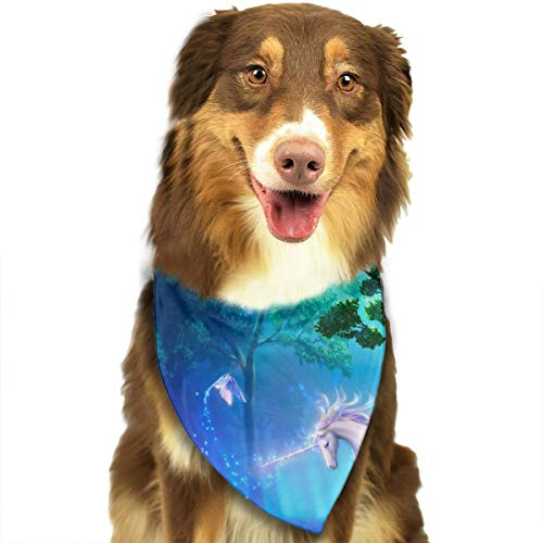 Pet Scarf Dog Bandana Bibs Triangle Head Scarfs Rainbow Unicorn Accessories for Cats Baby -