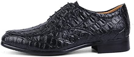 Color : Black, Size : 12 M US HYF Oxford Shoes Men Business Oxford Simple Crocodile Round Toe Formal Retro Pattern Gloss Upper Shoes Optional Business Shoes for Men