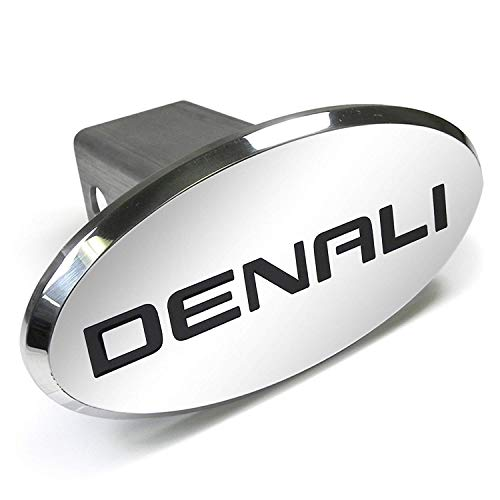 Gregs Automotive GMC Denali Oval Hitch Tow Cover Plug Cap Receiver - Made in USA - Bundle with Driving Style Decal