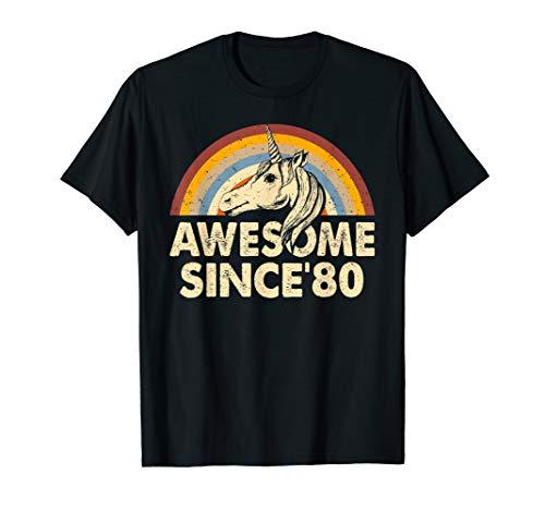Unicorn 39th Birthday Gift Rainbow 1980 39 Years Old shirts