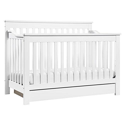 DaVinci Piedmont 4-in-1 Convertible Crib with Toddler Rail, White