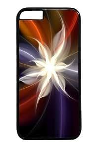 Flower Art Design Polycarbonate Hard Case Cover For LG G2 Black