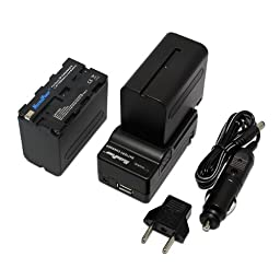 Maximal PowerFC500 Replacement Battery for SON F550/950+DB, SON NP-F950/F970x2FC500 and SON F550/950 (Black)