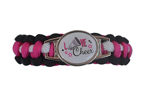Cheer Bracelet- Adjustable Girls Paracord Bracelet- Cheerleading Bracelet- Cheer Jewelry - Perfect Gift For Cheerleader