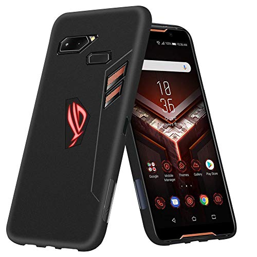 推進才能スキームASUS ROG Phone ZS600KL ケース TopACE スリム TPU カバー 落下 衝撃 吸収 擦り傷防止 ROG Phone ZS600KL 用 カバー (ブラック)