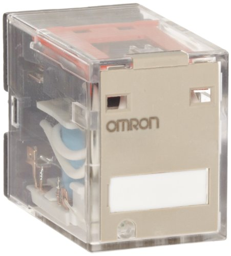 Omron MY4N1-D2 DC12 (S) General Purpose Relay, Reverse Coil Polarity, LED Indicator, Built in Diode Type, Plug-In Socket/Solder Terminals, Quadruple Pole Double Throw Contacts, 75 mA Rated Load Current, 12 VDC Rated Load Voltage