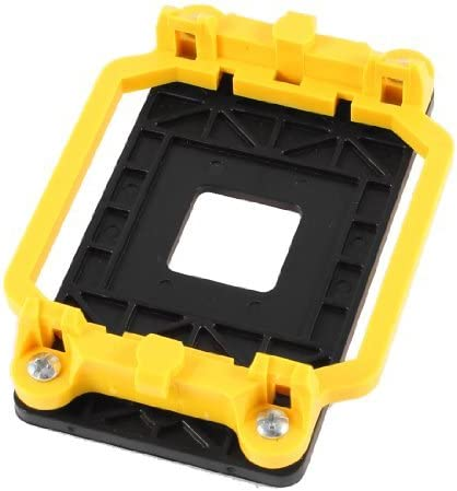 Water /& Wood Yellow Black Cooler CPU Fan Bracket Base for AMD AM2 940 Socket