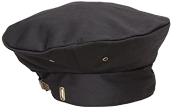 Chef Revival H036 QC Lite Poly Cotton Blend Chef Beret with Adjustable Head Strap, Black