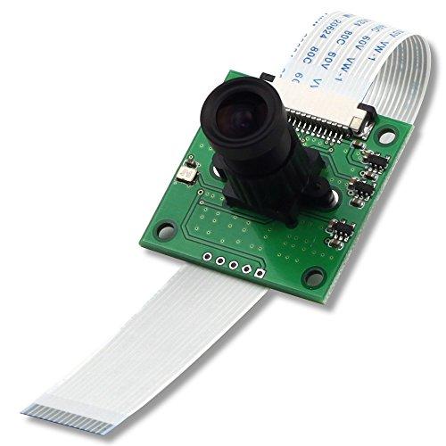 Arducam 5 Megapixels OV5647 Sensor Camera Module with M12x0.5 Mount Lens for Raspberry Pi Model A/B/B+, Pi 2 and Raspberry Pi 3, 3B+