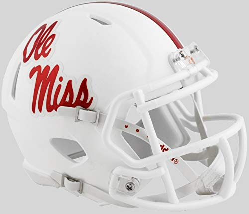 Mississippi Rebels Ole Miss White Alternate NCAA Riddell SPEED Mini Helmet
