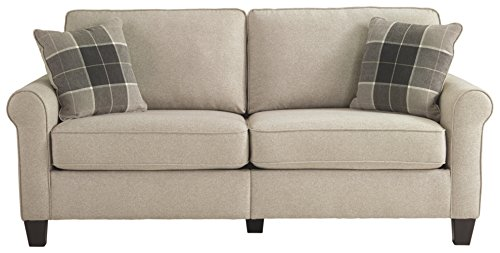 Ashley Furniture Signature Design – Lingen Contemporary Sofa – Arrives In One Box – Modular Assembly – Fossil