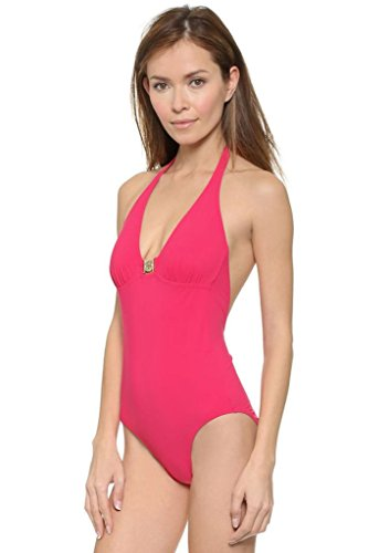 Tory Burch Logo One Piece Swimsuit in Pink - Size XSmall
