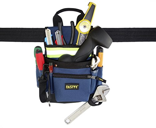 FASITE 8-POCKET Zippered Electrical Maintenance Tool Bag Waist Pouch with Belt with Reflective Strap - Drill Press Dolly