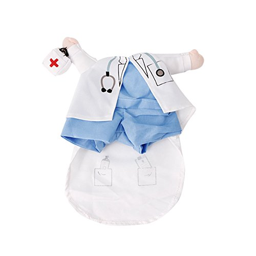 Itemap Pet Dog Cat Funny Christmas Costume Clothes,Xmas Clothing Cosplay Apparel Outfit (Doctor, L)