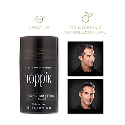 (Toppik Hair Building Fibers, Black 12g)