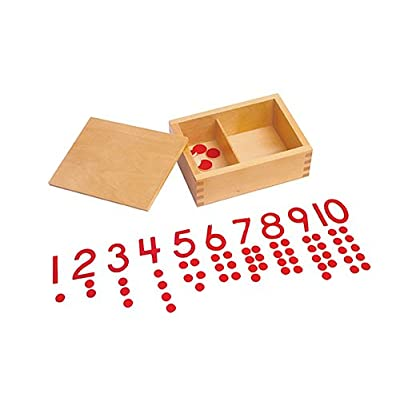 Kid Advance Montessori Cut-Out Numeral and Counters: Toys & Games