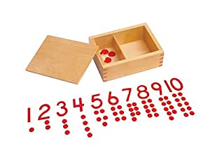Kid Advance Montessori Cut-Out Numeral and Counters