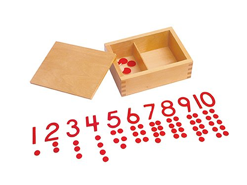 Cut Out Counter (Kid Advance Montessori Cut-Out Numeral and Counters)