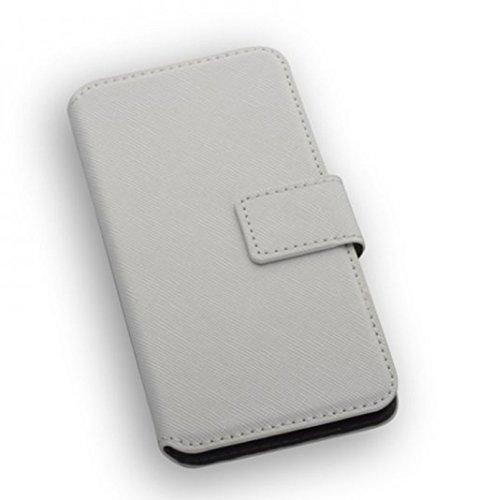 """Hochwertiges Premium Bookstyle Handytasche Flip Case weiß für """"Apple Iphone 7"""" Handy Schutz Hülle Etui Schale Book Case Cover Wallet"""
