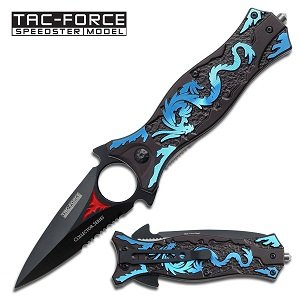 Tac Force TF-707BL Assisted Opening Folding Knife (4.5-Inch Closed), Outdoor Stuffs