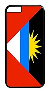 ACESR Antigua And Barbuda Flag iPhone 6 Hard Case PC - Black, Back Cover Case for Apple iPhone 6(4.7 inch)
