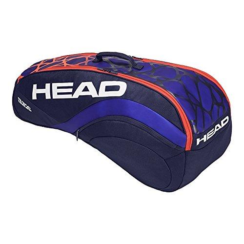 HEAD Murray Radical 6R Combi Tennis Bag, Blue/Orange