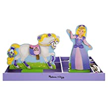 Melissa & Doug Princess & Pony Wooden Dress-Up Princess Doll and Horse With Magnetic Accessories (108 pcs)