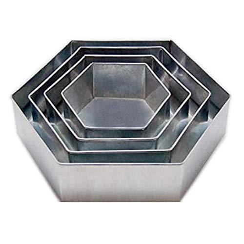4 Tier Hexagon Multilayer Birthday Wedding Anniversary Cake Tins / Pans 6'' 8'' 10'' 12''