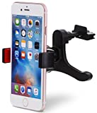 Aduro U-Grip Smartphone Car Mount, [Air Vent] Grip Mount Works with All Mobile Phones - 360 Rotation, Strong Grip, One Handed Operation, (Black/Red)