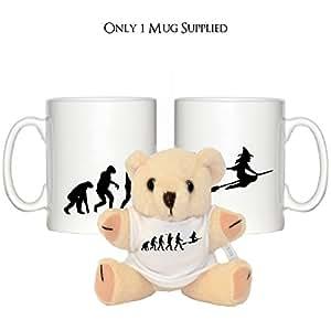 """Evolución de una bruja diseño 10oz taza y 5""""oso de peluche con a juego T-Shirt"""