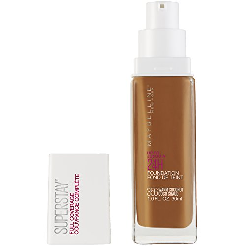 Maybelline Super Stay Full Coverage Liquid Foundation Makeup, Warm Coconut, 1 fl. oz.