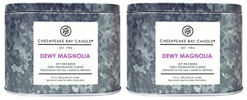 Chesapeake Bay Candle Heritage Collection Double Wick Tin Candle, Dewy Magnolia