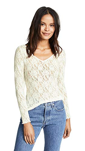 (Hanky Panky Women's Signature Lace Unlined Reversible Top, Marshmallow, White, X-Large )