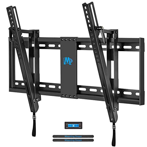 Mounting Dream Tilt TV Wall Mount TV Bracket for Most of 42-70 Inches TV, TV Mount Tilt up to 20 Degrees with VESA 200x100 to 600x400mm and Loading 132 lbs, Fits 16