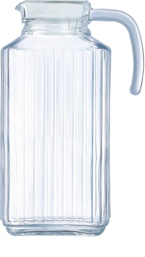 2 gallon glass pitcher with lid - 1