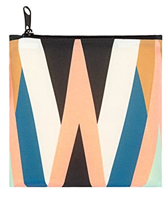 LOQI Echo Zigzag Reusable Shopping Bag, Multicolor