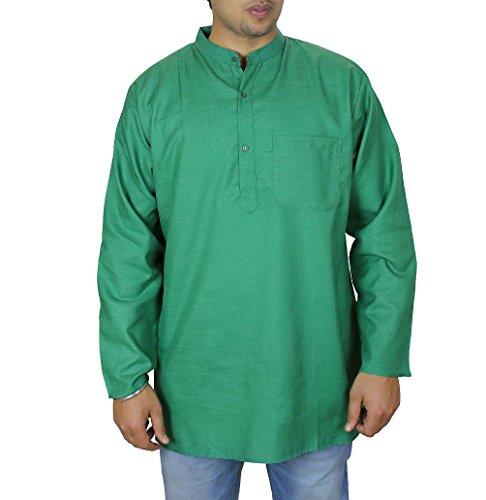 KurtaSummerrobespourhommes(vert),lâche,aérée,confortable,100 %coton,Machinelavable,tailleM,poitrineTaille : 101 CMcm.lesmeilleuresconditionsdetempschaud