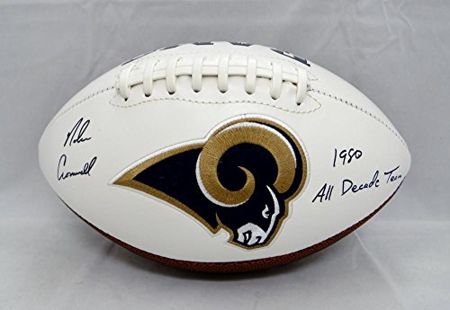 - Nolan Cromwell Autographed Signed Rams Logo Football All Decade Team- JSA Authentic