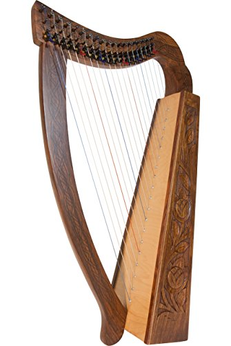 ROOSEBECK PIXIE HARP 19-STRING IRISH CELTIC STYLE w/ BLACK HARDWARE by Roosebeck