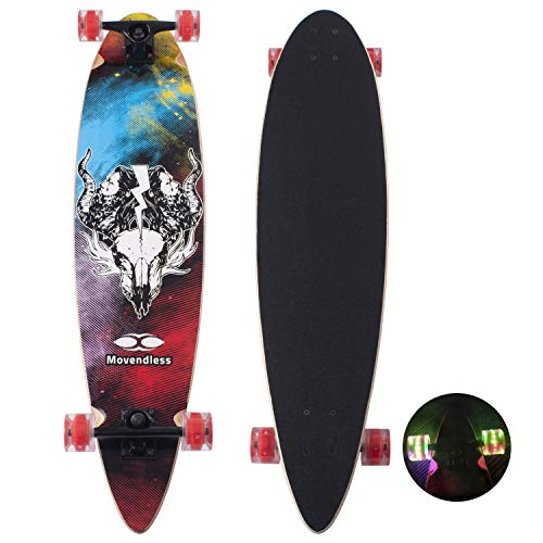 "YD-0009 Longboard 39"" Inches Drop Down 9 Layer Maple Wood Skateboard Complete"