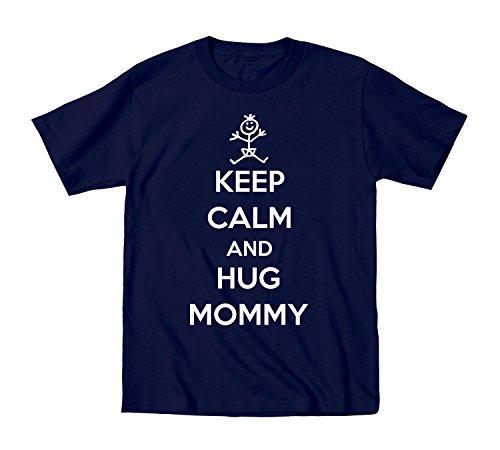 Keep Calm Hug Mommy Kids Baby Shirt 24 Months Navy