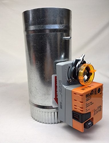 (SD 4 inch Belimo 3 wire Motorized 24v round zone control damper)