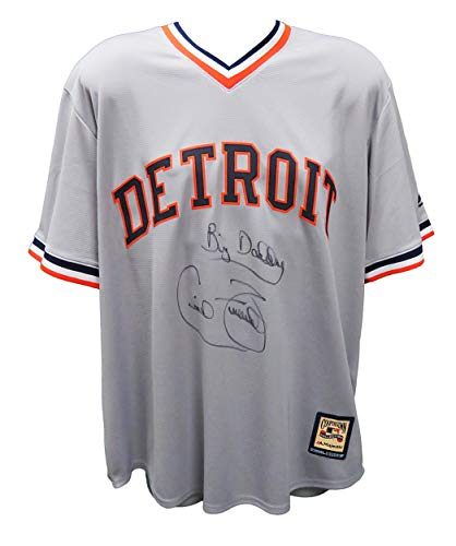 Autographed Cecil Fielder Jersey - Grey Throwback Cooperstown Collection Majestic Replica w Big Daddy